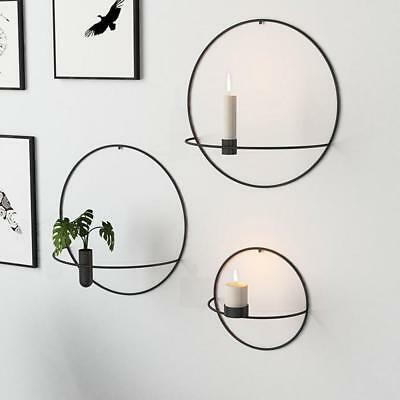 Wall Mounted Candle Holder Metal 3D Geometric Tea Light Home Decors Candlestick