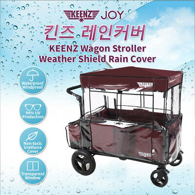 Keenz 7s Pocky Stroller Wagon Weather Shield Wind Snow Rain Cover UV Protection