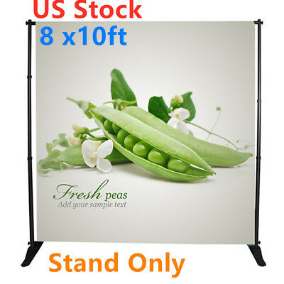 US Stock, 8 x10ft Step and Repeat Adjustable Backdrop Telescopic Banner Stand