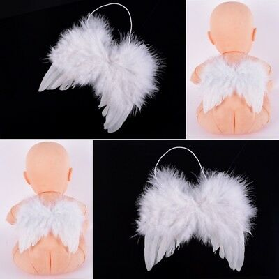 Infant Toddler Kid Baby Photo Props White Feather Angel Wings Halloween Costume