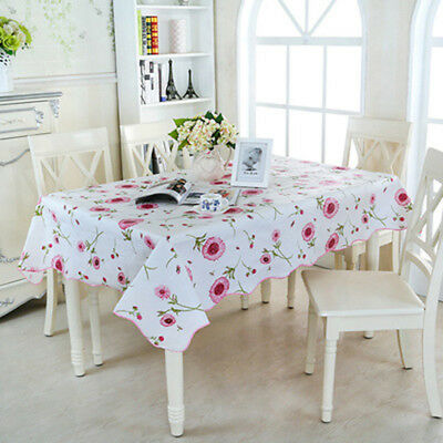 PVC Waterproof Oil Proof  Table Cloth Cover Dining Kitchen Tablecloth Decor N7