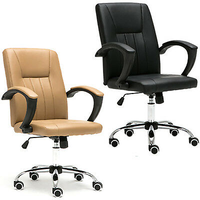 Business Office Pu Leather Executive Office Furniture Computer Desk Chair Uk