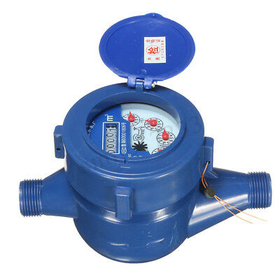 15mm Single Flow Dry Cold Water Meter Measuring Water Table Counter Garden