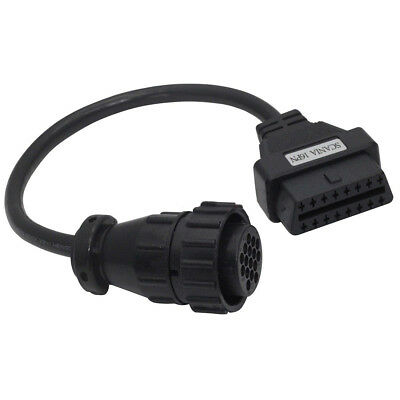 DAF Truck 16 Pin Socket to 16 Pin OBD2 Diagnostic Adapter Cable
