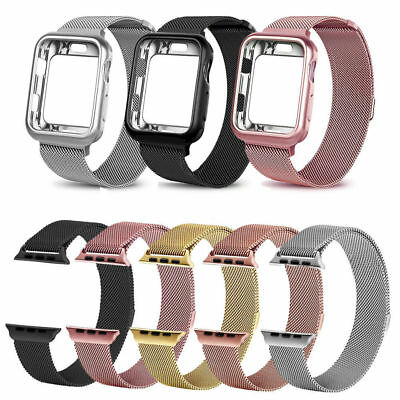 Magnetic Milanese Loop Band Stainless Steel Strap for Apple Watch Series 4 3 2 1