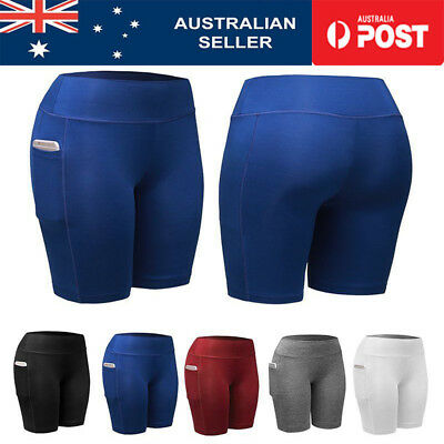 Women Compression Workout Sport Shorts Fitness Gym Stretch Tights Cotton Pants