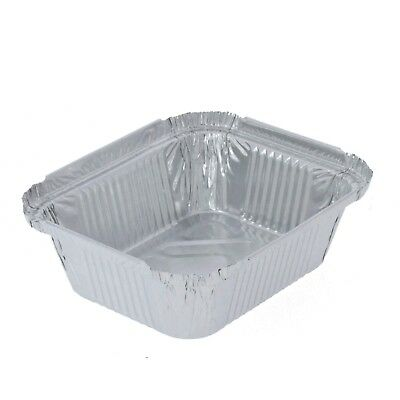 No. 2 Aluminium Foil Food Containers with Lids Restaurant Hot Food Take Away