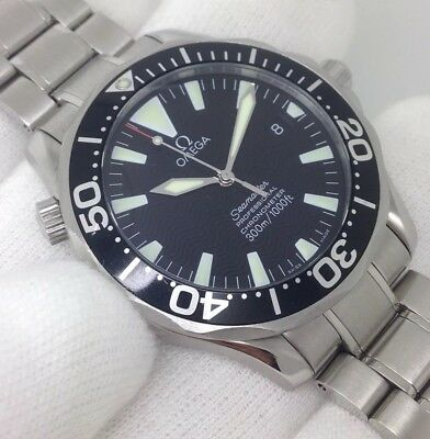 Gents Auto Full Size 41mm OMEGA Seamaster Black Sword Hands Wave Dial [2254.50]