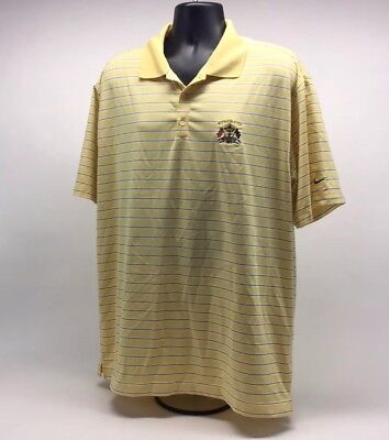 e5fc8a57 Nike Golf Fit Dry Polo Shirt Ryder Cup Valhalla Yellow Stripes Mens Size XL