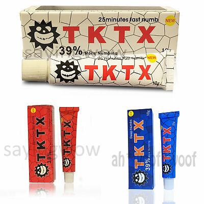 10* TKTX 38/39% More Numbing Cream Piercing Permanent Eyebrow Embroidered Tattoo