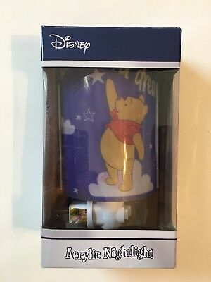 NEW Disney Wish Upon A Dream Acrylic Pooh Nightlight