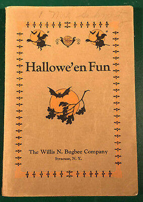 Vintage 1927 Willis Bugbee/Marie Irish Hallowe'en Fun Teacher Idea Book