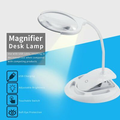 High-quality Lighted Magnifier Desk Light Magnifying Loupe Glass Magnifier Lamp