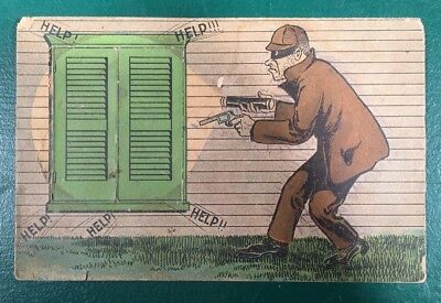 Late 1800's Mechanical Trade Card Putnam Fadeless Dyes Montgomery, Michigan