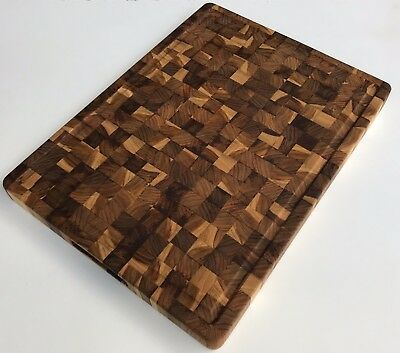 Teak cutting board, butcher block Medium size