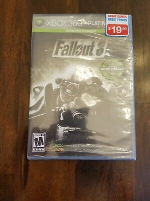 Fallout 3 Platinum Hits Xbox 360 Brand New & Factory Sealed