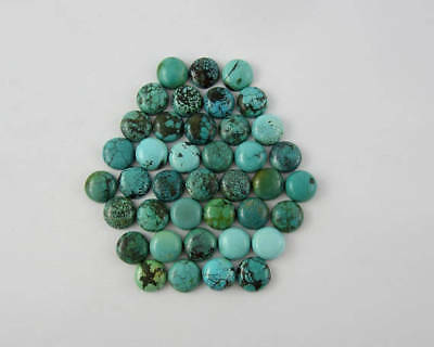 25 Pcs GORGEOUS Lot 100% Natural TURQUOISE 3X3 mm Round Loose Gemstone Cabochon