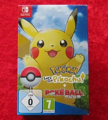 Pokemon Let´s Go Pikachu! + Pokeball Plus, Nintendo Switch Spiel, Neu-OVP