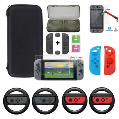 For Nintendo Switch Accessories Carry  Hard Shell Pouch Bag Glass Film Card Box