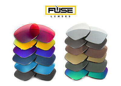 Fuse Lenses Non-Polarized Replacement Lenses for Oakley Inmate (Asian Fit)