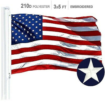 3'x5' Ft American USA US Flag | Sewn Stripes EMBROIDERED Stars Brass Grommets