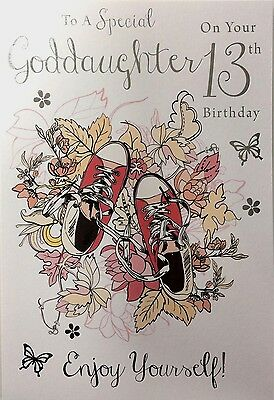 13th Birthday Card Female Daughter Granddaughter Goddaughter Sister Niece