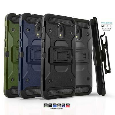 Phone Case for ALCATEL TCL LX (2018), [Tank Series] Shockproof Cover & Holster