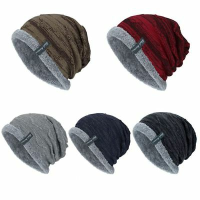 Men Women Winter Beanie Skull Cap Thicken Knitted Slouchy Baggy Hat Outdoor