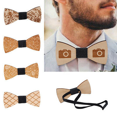 Mens Wooden Bow Tie Accessory Wedding Gifts Bamboo Wood Bowtie For Men Fashion