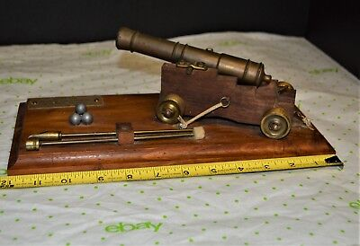 Vtg USS Constitution Naval Replica Display Cannon 1976 by Machine Trades Class