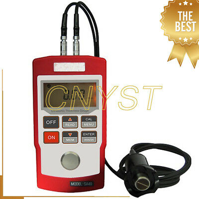 SA40 LCD Digital Ultrasonic Metal Thickness Meter Tester Measurement Gauge