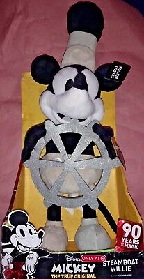 DISNEY Steamboat Willie Dancing Mickey Mouse Plush 90 Years of Magic Target New