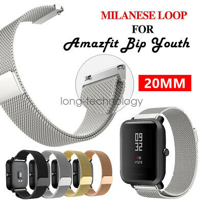 Replacement Stainless Steel Milanese Loop Bracelet Watch Band Amazfit Bip Youth