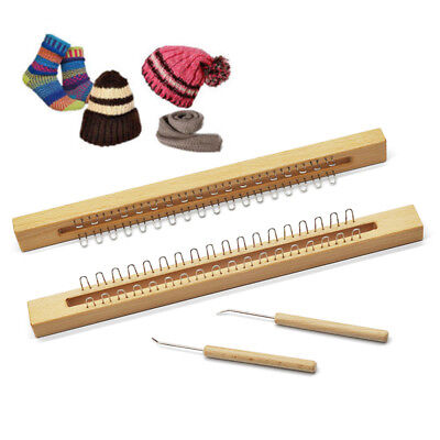 Handmade 36 Pins Wooden Knitting Loom Board Fine Gage Loom Hook Set Tool Hot