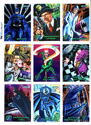 1995 Batman Forever Metal Base Set Of (100) Foil Trading Cards