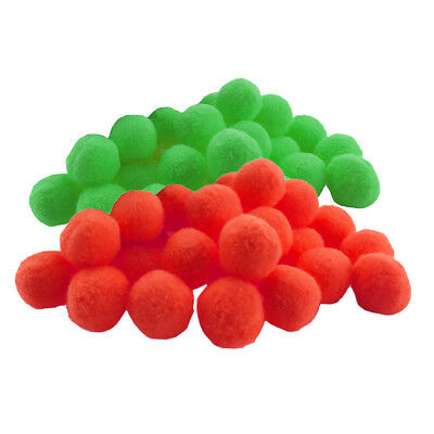 200pcs Fluffy Small Craft Pompom Crafts Decorations Red and Green