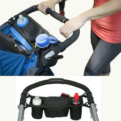 Baby Carriage Pram Buggy Organiser Pushchair Stroller Storage Cup Holder Bags