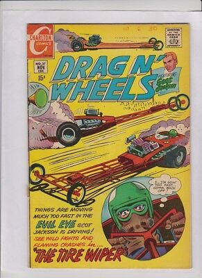 DRAG N' WHEELS #37 G/VG,  Jack Keller art, Charlton car comic, low cost copy