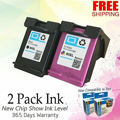 2 Combo Ink Cartridges for HP 63XL HP Deskjet 1110 1112 2130 3630 3632 3634 3636