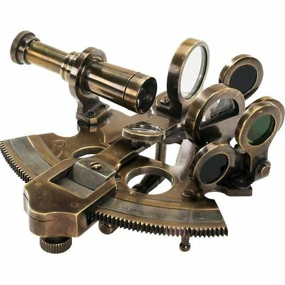Nautical Collectible Antique Authentic Models Bronze Brass Pocket Sextant
