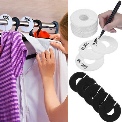 DIY Clothing Size Dividers Round Hangers Closet Dividers for Clothes Stores