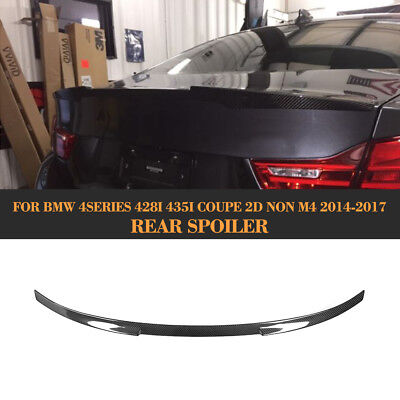 Carbon Rear Trunk Boot Spoiler Fit for BMW F32 428i 435i Coupe 2 Door 2014-2017