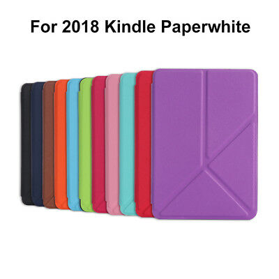 Shell e-Books Reader Case PU Leather For Amazon 2018 Kindle Paperwhite 1/2/3/4