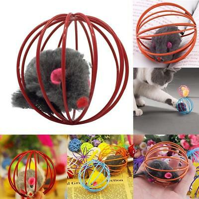 Funny Gift Play Playing Toys False Mouse in Rat Cage Ball Pet Cat Kitten Cute