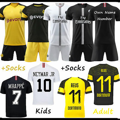 2018/19 Football Kits Soccer Adults Kids Short Sleeve Jersey Team Suits +Socks