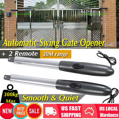 Automatic Arm Dual Swing Gate Opener Low Noise Gates Up to 662 lb DC Motor