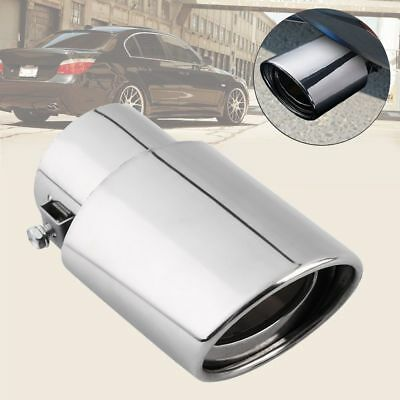 Round Chrome Silencer Stainless Steel Tail Throat Car Exhaust Pipe Rear Muffler