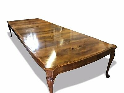 HUGE and Magnificent rare 17ft Burr Walnut dining table pro French polished