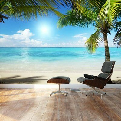 Digital Wall Art Tropical Palms Beach 100x144 Full Wall Mural Decal Room Decor