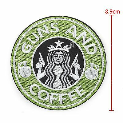 Tactical Guns And Coffee Hook Loop Morale Military Embroidered Klett Starbucks.